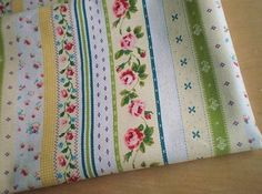 LF079  Linen Cotton Blended Fabric  Stripe  Rose  by bjyanjun, $5.40