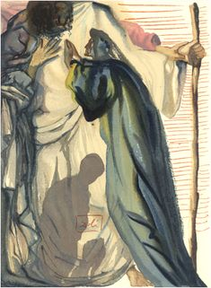 Divine Comedy/ Purgatory, Canto A Spirit Questions Dante In the early 1950 Dali was commissioned. Gouache Painting, Watercolor Paintings, Salvador Dali Art, Wolves And Women, Spanish Artists, Art Archive, Photo Illustration, Illustrations, Art Gallery