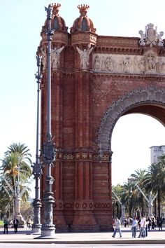 Barcelona - This beautiful arch was built for the 1888 Universal Exposition, which took place at the Parc de la Ciutadella. The Arc de Triomf, situated at the end of a wide promenade, served as the exposition's main entrance.