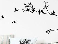 Eenvoudig en Goedkoop een Muursticker Met Vogels en Takken. Kies je eigen Kleur en haal deze Muursticker voor slechts 24,95! Bekijke deze Vogels en Takken Muursticker online