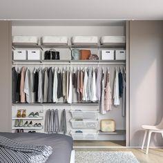 Ikea Closet Hack, Ikea Closet Organizer, Closet Hacks, Closet Organization, Ikea Closet System, Closet Storage, Organizing, Small Walk In Wardrobe, Walk In Closet