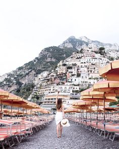 "6,629 Likes, 191 Comments - MELANIE | Travel & Lifestyle (@thetiafox) on Instagram: ""Good morning Positano! Found the perfect place to relax by the beach and enjoy the beautiful views!…"""