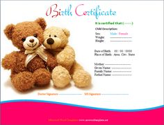 Baby Birth Certificate Template Pleasing Jamie Anthony Jamiesaveword On Pinterest