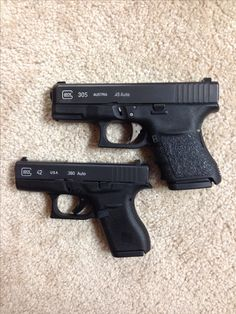 New Glock 42 .380 Auto paired with my Glock 30S .45 ACP, fantastic EDC pair
