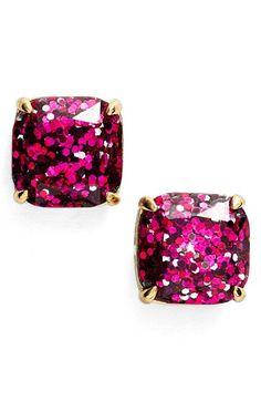 kate spade new york glitter stud earrings in multi glitter color!!!