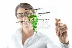 Businesswoman and transparency sheet Royalty Free Stock Photo