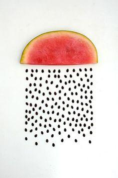 Water Melon Rain #fruitart