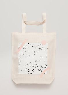 GEOMETRY Screen printed canvas fair trade eco tote bag by depeapa