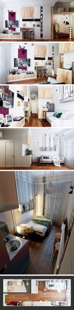 Apartamento de 15 metros quadrados