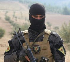 Stock Photo - An elite fighter with the Kurdish YPG during training shown in a propaganda photo released by the YPG March 2016 in Iraqi Kurdistan. The YPG or Peoples Protections Units Military Weapons, Military Men, Cool Dance Moves, The Kurds, Combat Pants, Badass Aesthetic, Face Yoga, Kurdistan, Freedom Fighters