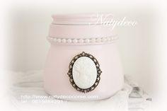 Pot peint couleur rose poudre  Natydeco en vente sur http://www.natydecocorse.com