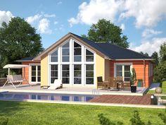Top Star 149 Bungalow Gartenseite --> Zahlreiche Bungalow Wohnideen modern inszeniert. Die komplette Bildergalerie gibt es unter http://www.hanlo.de