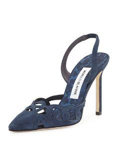 Manolo Blahnik Nitapa Cutout High-Heel Halter Pump via: null Women's Pumps, Pump Shoes, Shoe Boots, Shoes Sandals, Pretty Shoes, Beautiful Shoes, Manolo Blahnik Heels, Latest Shoes, Dream Shoes