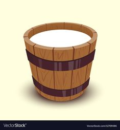 Milk in wooden bucket vector image on VectorStock Strawberry Juice, Adobe Illustrator, Vector Free, Bucket, Milk, Illustration, Boxes, Pdf, Cartoon