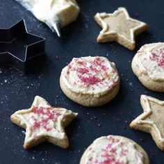 These Vegan & Paleo Iced Sugar Cookies are a MUST at my house for Christmas. These cookies are gluten-free and they taste amazing!