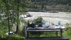Surf and turf camping style