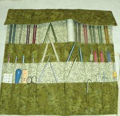 Knitting Needle Organizer Knitting Needle Case by CilesBoutique