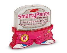 Melissa & Doug Smarty Pants - Kindergarten Card Set - toss a set of these flashcards into your bag and pull it out when your child gets antsy - other grade levels too