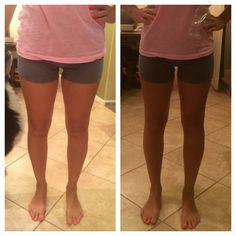 My legs before and after my 1st It Works Wrap
