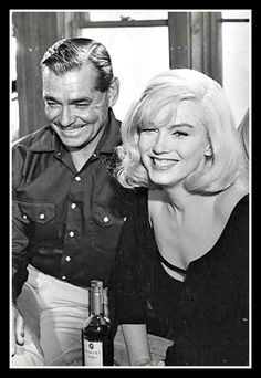 """I love this happy picture of Marilyn Monroe & Clark Gable in the vastly underrated """"The Misfits"""""""