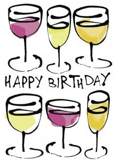Wine Happy Birthday | Funny wine filled Birthday Card