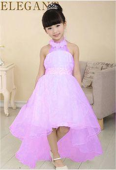 2016 New Summer Baby Girls Party Dress Evening Wear Long Tail Girls Clothes Elegant Flower Girl Dress Kids Baby Dresses