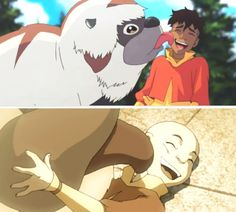Legend of Korra/ Avatar the Last Airbender: air bison kisses :))))