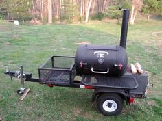 bbq smokers - Google Search Meat Smokers, Bbq Smoker Trailer, Wood Stoves, Old Barns, Bbq Grill, Outdoor Cooking, Grills, Charcoal, Electric