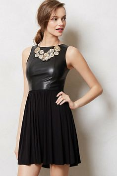 Ha! Even Anthro is getting in on the leather craze! :) Ancona Dress #anthropologie