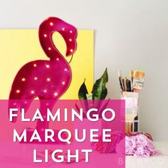 Make a pink flamingo marquee light to decorate your home with by following this DIY video tutorial.