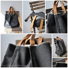 Denim and leather DIY bag