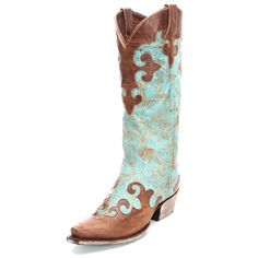 Lane Dawson Turquoise Cowgirl Boots
