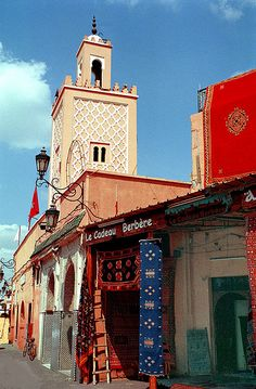 Old Market Square in Marrakech_ Morocco