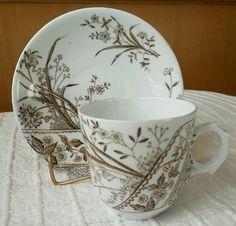 transferware tea cups   Antique Staffordshire Aesthetic Brown Transferware Childs or Demitasse ...
