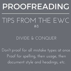 Which #proofreading task do you tackle first? #writingtips #writingcenter