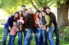 Cute pose for multi-generational group...Large family group by millicent