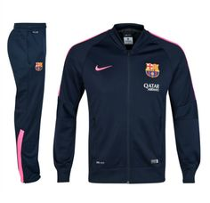 Barcelona Squad Sideline Knit Warm Up Tracksuit Navy FC Barcelona Official Merchandise Available at www.itsmatchday.com