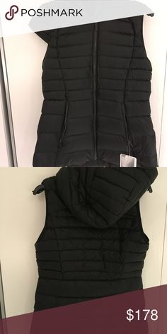Lululemon Athletica Down For It Vest Black NWT Lululemon Athletica Down For It Vest in Black New with Tags sz. 6  why we made this All the fluff without the puff - this down vest was designed to keep you warm when the temperature drops. Stretch Glyde  In the body is DWR-treated and insulated with 700-fill goose down to keep you warm and protected from the elements  designed for To + from  rds certified Certified to the Responsible Down Standard by Control Union  removable hood This removable…