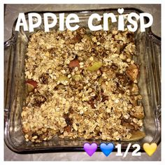 Serves 4 Container Equivalents (per serving): 1 Purple, 1/2 Yellow, 1 Blue Ingredients 4 cups chopped apples 3 tablespoons pure maple syrup, divided 1 teaspoon ground cinnamon, divided 1 cup old-fa…