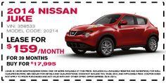 2014 Nissan JUKE Lease Offer (March)