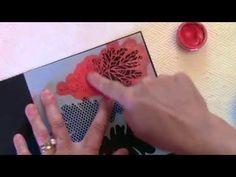 video tutorial: Inka Gold with Stencils Stencil Wood, Stencils, Card Making Techniques, Art Techniques, Gold Video, Wood Projects, Projects To Try, Inka Gold, Gilding Wax