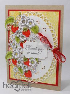 Heartfelt Creations | Strawberry Oval Thank You