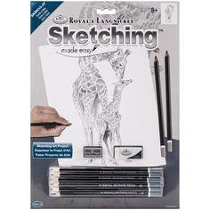 Royal Brush Sketching Made Easy Kit 9inX12inGiraffe & Baby