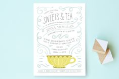 Teacup Baby Shower Invitations by Laura Hankins at minted.com
