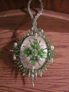 Handmade Beaded Sequin Ornament ON SALE by CraftsbyLoveMyLabs, $30.00