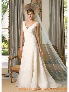 Glamouröse Dramatische Brautkleider aus Organza mit Applikation