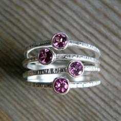 L'anneau de confettis dans le grenat de Rhodolite par onegarnetgirl, $198.00