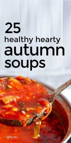 These healthy hearty creamy fall soup recipes make wonderful comfort food in autumn but are super easy to make both in a crockpot or ordinary casserole and using seasonal vegetables help save money on groceries #fallsoup #fallsouprecipes #fallrecipes #autumnsouprecipes #fallcrockpotrecipes #crockpotrecipes