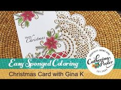 Easy Sponged Coloring- Christmas Card with Gina K