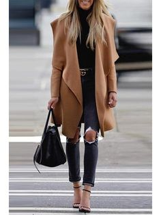 Warm Wool Blends Coat Winter Female Trench Outwear – linenwe fashion jackets fall coat outfit with coat coat room ideas Fashion Moda, Look Fashion, Autumn Fashion, Fashion Trends, Womens Fashion, Fashion Ideas, Fashion Outfits, Winter Fashion Women, Fashion Styles